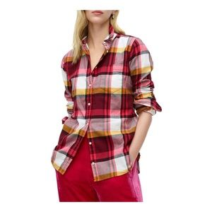 J crew boy shirt Pacey plaid classic fit 6